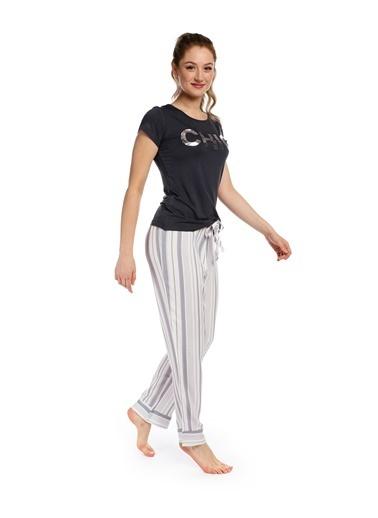 Pamuk & Pamuk Kadın Çizgili Pantolon Takım Renkli